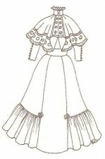 """Sewing Pattern doll size 27-28"""" Dress cape designed for slim waited 153"""