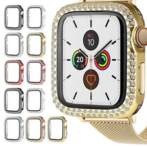 For Apple Watch Series 6/5/4/SE/3/2 Bling Diamond Plating Case 44/40/42/38mm D4