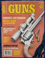 Magazine *GUNS* July, 1987 COONAN .357 Magnum PISTOL, SAKO New Left-Handed RIFLE