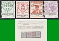 ITALY REGNO 1924 PARASTATALI CONSORZIO BIBBL TORINO S.2905 4v MNH** CERTIF LUSSO