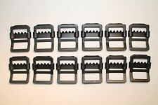 """Military Web Strap Tongueless Buckle, 1"""", Mil-Spec, Black. 12 ea,  Military Jeep"""