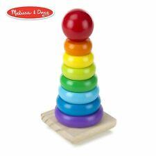 Melissa & Doug Rainbow Stacker Classic Toy Superior Craftsmanship, 8Rings, Solid