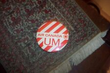 VINTAGE & RARE 1970's LARGE  AIR CANADA PINBACK PIN VG CONDITION  CHEAP