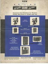 VTG 1938 SIMPLEX MOVIE THEATER SOUND SYSTEM EQUIPMENT SPEC! AMPS/SPEAKERS/PRICES