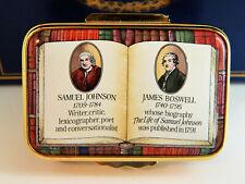 Halcyon Over Enamel Trinket Box - Rare Numbered, Samuel Johnson / James Boswell