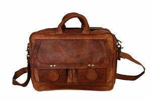 Leather Genuine Bag Men S Pack Laptop Shoulder Messenger Briefcase New Travel