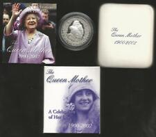 2002 FIVE DOLLAR *SILVER PROOF COIN* -* THE QUEEN MOTHER*  ONE TROY OUNCE SILVER