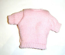 Barbie Sized Fashion Pink Knit Sweater Top For Barbie Dolls vb02