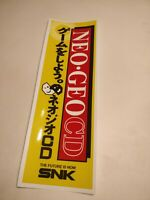 (2) Small 9x30cm. Neo Geo CD Banner Vinyl Sticker