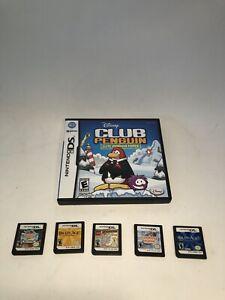 Mixed Lot Nintendo DS Games Cooking Mama Club Penguin Indiana Jones Lot 6 Games