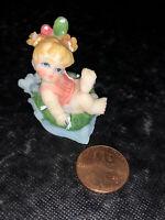 Vtg Mini Napco? Porcelain Little Baby Girl Mini Figurine