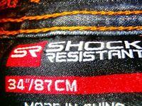 SR SHOCK RESISTANT Denim Shorts Mens SZ 34 in Excellent Condition