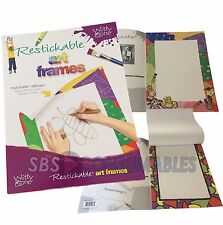 Witty One Restickable Art Frames. Children's drawing pads. Display kid's artwork