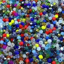 Bicone Colours Varied ab Crystal Beads 500 Beads Glass Tupis 0 5/32in