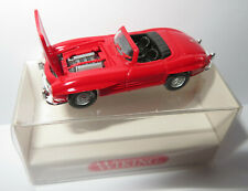 MICRO WIKING HO 1/87 MERCEDES-BENZ 300 SL ROADSTER CABRIOLET rouge #8340220 BOX