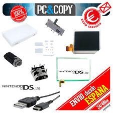 Pantalla LCD nintendo ds lite superior-inferior/Bisagra/Interruptor/cargador/y+