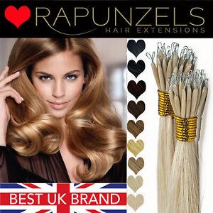 "NANO Ring tip indian remy human hair extensions RAPUNZELS SALON HAIR 1 GRAM 20"""