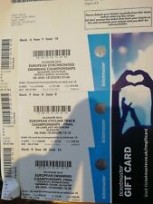 tickets european cycling and swimming championships Glasgow