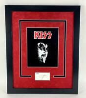 KISS Gene Simmons Autographed Signed 16x20 Frame Display ACOA