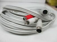 6 PIN S-VIDEO MALE TO 2 RCA+4 PIN S-VIDEO MALE CABLE 50 FT. (XX0359)