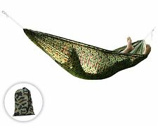 Portable Single Hammock Outdoor Swing Camping Fabric Hanging Camo - ²NQFSH8
