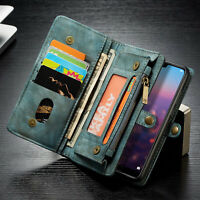 For Huawei P20 P30 Mate 20 Pro Leather Removable Wallet Magnetic Flip Case Cover