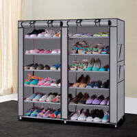 6 Layer 12 Grid Non-woven Shoe Rack Shelf Storage Closet Organizer Cabinet Home