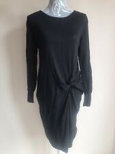 Next Women Jumper Dress Size 14 Black Long Sleeved Knee Length Knitted