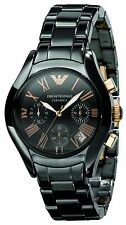 ** NEW **Emporio Armani® watch AR1411 Ladies Black with Gold adds Ceramica