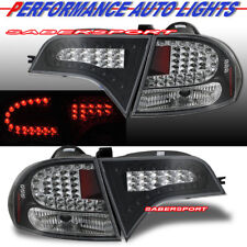 Set of Pair Black LED Taillights for 2006-2011 Honda Civic 4dr Sedan