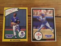 88 + 89 Bo Jackson Starting lineup cards Excellent condition. One owner