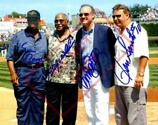 8.5x11 Autographed Reprint RP Photo Chicago Cubs Banks Santo Williams Sandberg