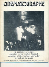 CINEMATOGRAPHE 16 (12/75) PETER LORRE LE SADISME CATHERINE DENEUVE ARLETTY