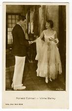 1920's Vintage Movie Star RONALD COLMAN Vilma Banky antique photo postcard