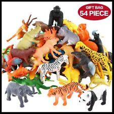 Jungle Animals Toy Set Kids Plastic Figure Toddlers Wild Farm Playset Pack 54