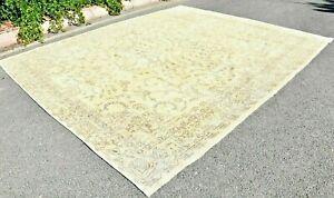 Turkish Unique Vintage Area Rug Anatolian Handmade Ethnic Oriental rug 10x12 ft