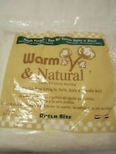 """Warm and Natural Needled Cotton Quilt Batting 90"""" X 108"""" Queen Size"""