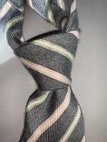 Luigi Borelli Napoli Grey Cashemere Silk Tie Made in Italy