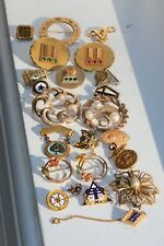 Mix Lot of 72 Grams GOLD FILLED Wearable Vintage Brooch Jewelry Pieces NOT SCRAP