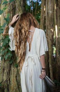 Boho Wedding Dress - Sacred Wear Organic Cotton Bohemian Goddess Gypsy Dress