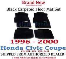 Genuine OEM Honda Civic 2dr  Black Carpeted Floor Mat Set 96-00 08P15-S02-110B