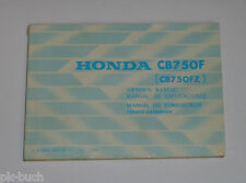 Betriebsanleitung / Owner's Manual Honda CB 750 F / FZ Stand 1980