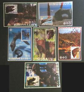 """Kongo 2002, """"Dinosaurier"""", 6 verschiedene postfrische Blocks (P1638)"""