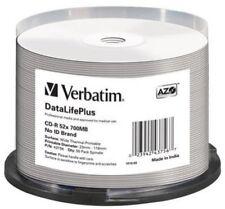 1x50 Verbatim Cd-r 80 / 700mb 52x White Wide Thermal Printable