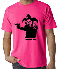 BANKSY CLOWN WITH PISTOLS NEON T-SHIRT - Choice Of Colour Sizes S-XXL FREE P&P