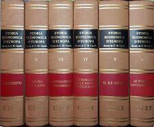 STORIA ECONOMICA D'EUROPA 6 vol. prima edizione 1979 UTET