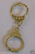 New Sexy Cop Handcuffs Lapel Hat Pin Police Golden Handcuff Tie Tack Biker
