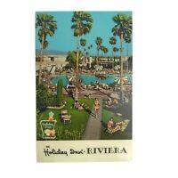 Vintage 1960s Holiday Inn Riviera Hotel Palm Springs California Postcard MCM