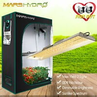 Mars Hydro TS 2000W LED Grow Lights Indoor Lamp +4'x2' Grow Tent Greenhouse Box