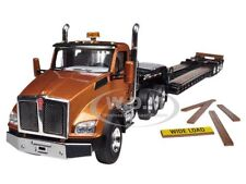KENWORTH T880 TRI AXLE LOWBOY TRAILER AZTEC GOLD/BLACK 1/50 FIRST GEAR 50-3284